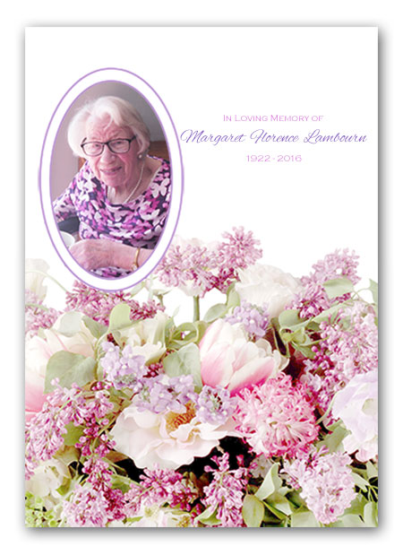 Floral Bouquet Funeral Stationery